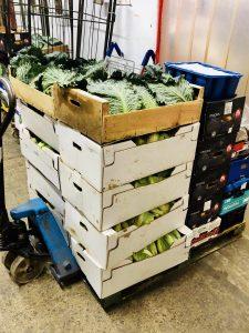 Boxes of veg